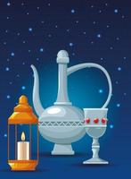 icone di elementi arabi vettore