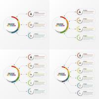 Elementi astratti del modello di infografica vettore