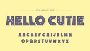 Tipografia viola a pois