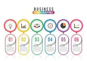 Modello astratto di opzioni di numero di infographics