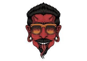 disegno della testa del diavolo vettore