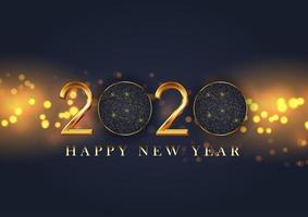Design decorativo di felice anno nuovo vettore