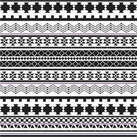 Picchiettio di forme tribali in bianco e nero vettore