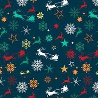 disegno di sfondo di Natale con Babbo Natale e slitta