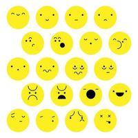 Set di facce ed emozioni umane vettore