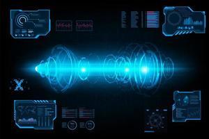 Tunnel di cerchio futuristico sistema astratto