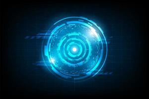 Cerchio astratto collegamento futuristico con luce bagliore