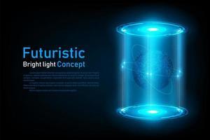 Ologramma futuristico astratto del collegamento del mondo