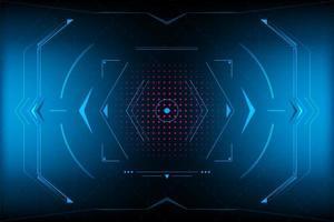 Triangolo futuristico astratto HUD.vector ed illustrazione