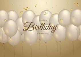 Buon compleanno celebrazione tipografia design per biglietto di auguri vettore
