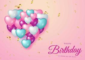 Buon compleanno celebrazione tipografia design per biglietto di auguri