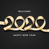 Sfondo di celebrazione del nuovo anno 2020 vettore