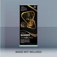 Banner di vendita oro roll up vettore