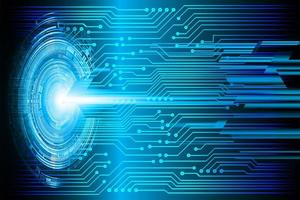 Immagine di tecnologia futura del circuito cyber blu vettore