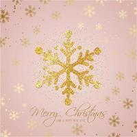 Sfondo di fiocchi di neve di Natale glitter