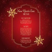 Disegno del menu di Capodanno