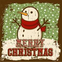 Poster segnaletica vintage di buon Natale vettore