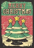 Poster segnaletica vintage di buon Natale rustico vettore