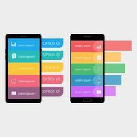 Impostare il modello di infografica mobile