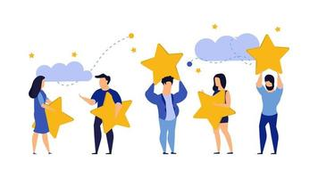 Illustrazione della scelta a cinque stelle della recensione del cliente