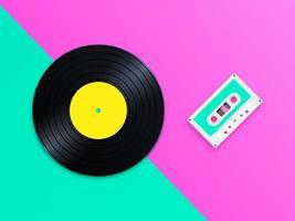 Vecchia scuola musica pop sfondo vettoriale