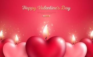 Concetto di San Valentino con candele cuore