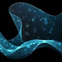 Blu futuristico del fondo dell'onda astratta