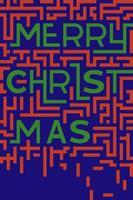 Tipografia di buon Natale in stile piatto