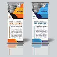 modello di banner roll up aziendale con forme geometriche