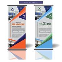 arrotolare il modello di banner con design a forma diagonale