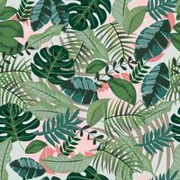 Modello senza cuciture verde giungla tropicale vettore
