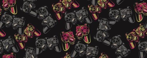 Modello senza cuciture di colore su un tema di gioco vettore