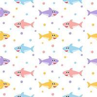 Seamless pattern di squalo colorato