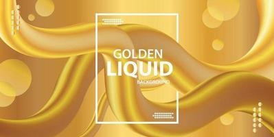 Sfondo liquido dorato