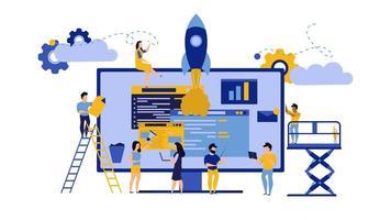 Concetto di business creativo lavoro di squadra