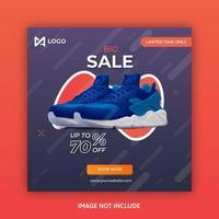 Posta di social media di vendite geometriche di forma arancione