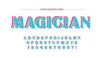 Design retrò tipografia display colorato vettore