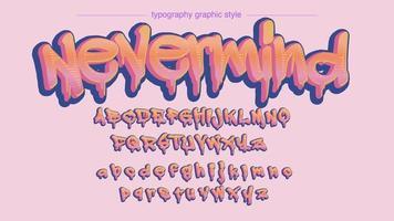 Carattere artistico di stile arancione Graffitti