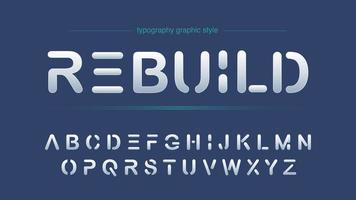 Tipografia futuristica astratta di affari