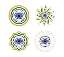 Felice set di elementi giorno della Repubblica indiana vettore