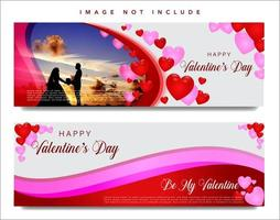 Set di banner web di San Valentino