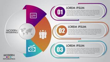 Modello di infographics di affari per diagramma, grafico, presentazione e grafico vettore