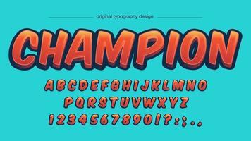 Orange Cartoon Comics Tipografia Design vettore