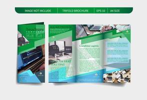 Design brochure verde TRIFOLD vettore