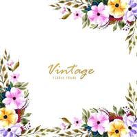 Cornice floreale vintage decorativa vettore