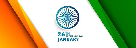 Bandiera dell'onda bandiera indiana con design ad angolo