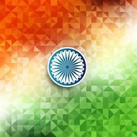 Fondo geometrico di tema astratto della bandiera indiana