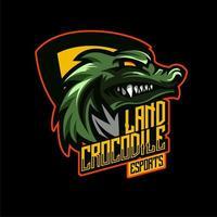 Emblema del personaggio di esports di coccodrillo