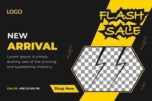 Banner di vendita flash di nuovo arrivo vettore