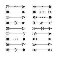 Set di frecce etniche vettore